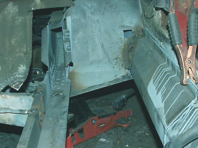 mustang engine torque box